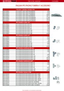 ITALSAN PP3 phono tubería y accesorio
